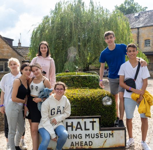 Oxford Spires students in Bourton-on-the-Water