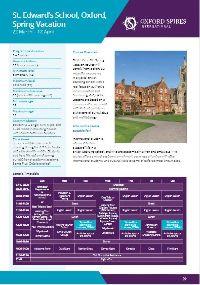 St Edwards info sheet